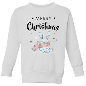 Merry Christmas Rabbit Kids' Sweatshirt - White