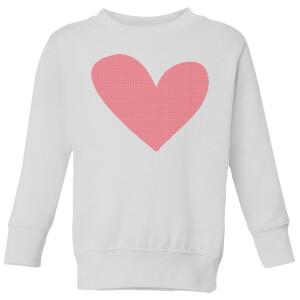 Cross Stitch Heart Kids' Sweatshirt - White