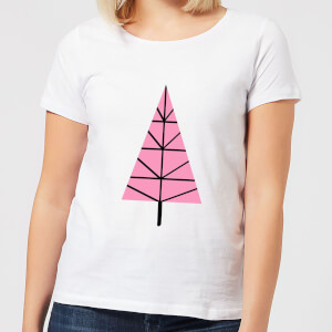 Triangle Christmas Tree Women's T-Shirt - White