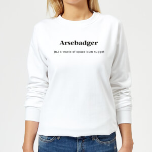 Arsebadger Women's Sweatshirt - White