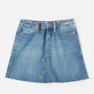 Tommy Hilfiger Girls' A Line Skirt - Upcycled Denim