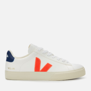 Veja Men's Campo Chrome Free Trainers - Extra White/Orange/Cobalt