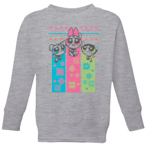 Power Puff Girls Christmas Kids' Sweatshirt - Grey