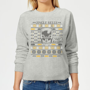 Batman I Do Not Smell Women's Christmas Sweatshirt - Grey