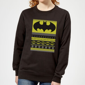 Batman Women's Christmas Sweatshirt - Black