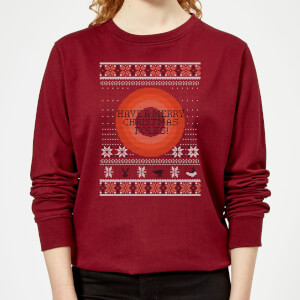 Looney Tunes Knit Women's Christmas Sweatshirt - Burgundy