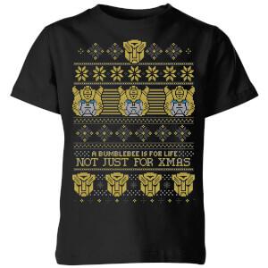 Bumblebee Classic Ugly Knit Kids' T-Shirt - Black
