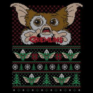 Gremlins Ugly Knit Women's Christmas T-Shirt - Black