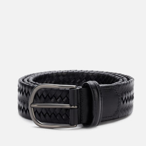 Anderson's Men's Matt Buckle Woven Belt - Black