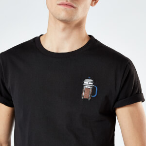 Cafetiere Unisex Embroidered T-Shirt - Black