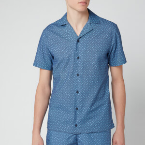 Orlebar Brown Men's Travis Nerano Shirt - Sea Breeze/Navy