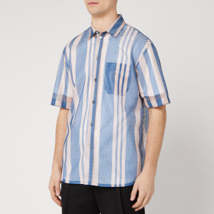 OAMC Men's Institute Shirt - Charcoal Blue