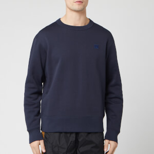 Acne Studios Men's Mini Fairview Face Sweatshirt - Navy