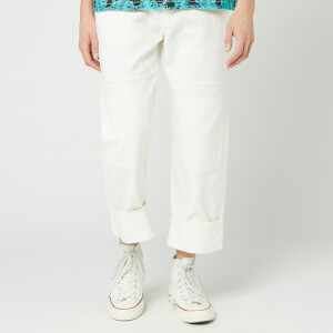 JW Anderson Men's Patched Denim Trousers - Off White
