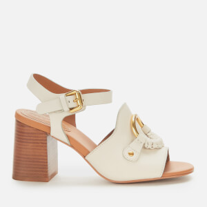See By Chloé Women's Leather Heeled Sandals - Chalk