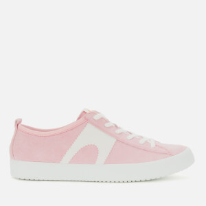 Camper Women's Suede Low Top Trainers - Light Pastel Pink