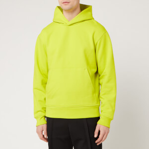 Acne Studios Men's Classic Fit Hooded Sweatshirt - Sharp Yellow