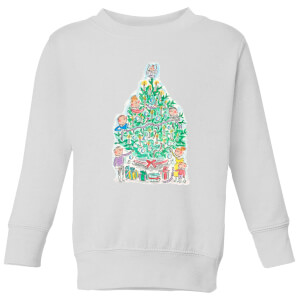 Rosie Brooks Christmas Tree Kids' Sweatshirt - White