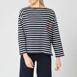 Tommy Hilfiger Women's Essential Breton Stripe Long Sleeve Top - Breton Stripe/White