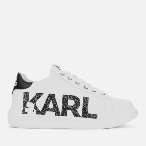 Karl Lagerfeld Women's Kapri Karl Logo Leather Chunky Trainers - White