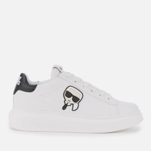 Karl Lagerfeld Men's Kapri Karl Ikonic 3D Lace Leather Trainers - White