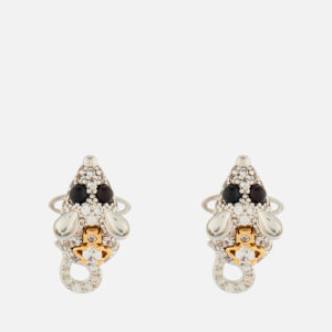 Vivienne Westwood Women's Rat Earrings - Rhodium/Gold White/Black