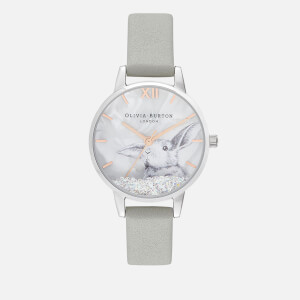 Olivia Burton Women's Winter Wonderland Bunny Watch - Grey