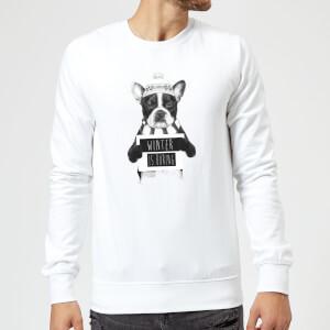 Winter Is Boring Sweatshirt - White