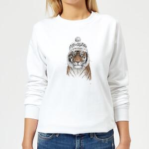 Siberian Tiger Women's Sweatshirt - White