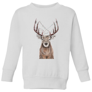 Xmas Deer Kids' Sweatshirt - White