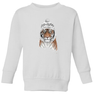 Siberian Tiger Kids' Sweatshirt - White