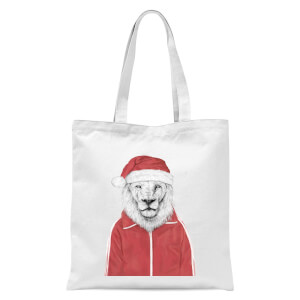 Balazs Solti Santa Lion Tote Bag - White