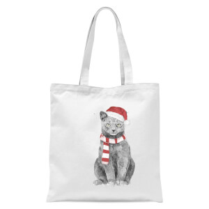 Balazs Solti Xmas Cat Tote Bag - White