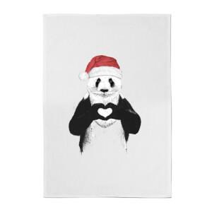 Santa Panda Cotton Tea Towel