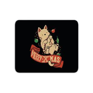 Tobias Fonseca Merry Xmas Cat Mouse Mat