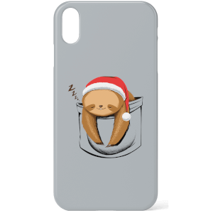 Tobias Fonseca Sloth In A Pocket Xmas Phone Case for iPhone and Android