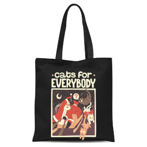 Tobias Fonseca Cats For Everybody Tote Bag - Black
