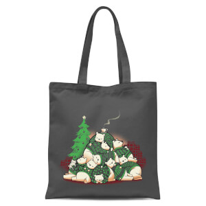 Tobias Fonseca Good Night Xmas Bear Tote Bag - Grey
