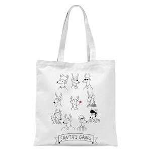 Tobias Fonseca Santa's Gang Tote Bag - White