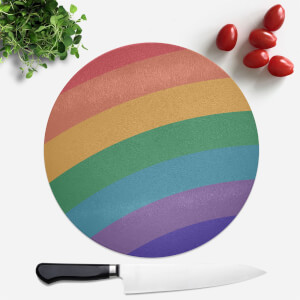 Retro Rainbow Round Chopping Board