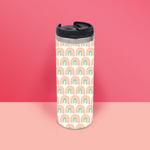 Hand Drawn Rainbow Thermo Insulated Travel Mug