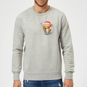 Tobias Fonseca Sloth In A Pocket Xmas Sweatshirt - Grey
