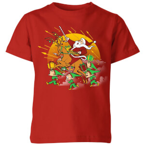 Tobias Fonseca Xmas War Kids' T-Shirt - Red