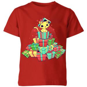Tobias Fonseca Tons Of Xmas Gifts Kids' T-Shirt - Red