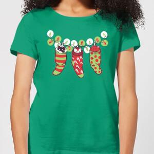 Tobias Fonseca Jingle Meow Women's T-Shirt - Kelly Green