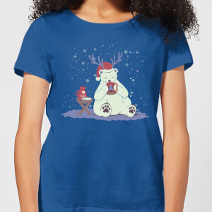 Tobias Fonseca Polar Xmas Eggnog Women's T-Shirt - Royal Blue