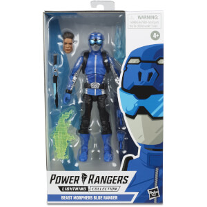 Hasbro Power Rangers Lightning Collection Beast Morphers Blue Ranger 6 Inch Action Figure
