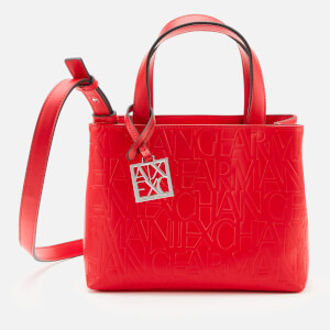 Armani Exchange Women's Small Tote Bag - Red