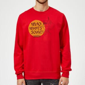 Samurai Jack Who Wants Some Sweatshirt - Red