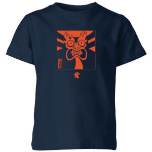 Samurai Jack Aku Kanji Kids' T-Shirt - Navy